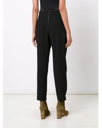 Alice + Olivia - Black Linda Embellished Wide-leg Tuxedo Trousers - Size 6 - Lyst