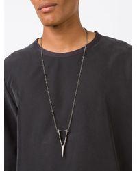 Julius | Metallic Wishbone Pendant Necklace for Men | Lyst