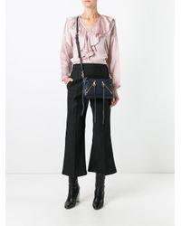 Rebecca Minkoff Blue Zipped Crossbody Bag