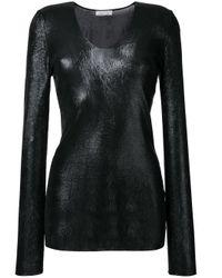 Nina Ricci - Black Sheer Longsleeved Top - Lyst