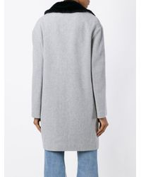 Gaëlle Bonheur Gray Single Breasted Coat