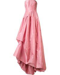 Oscar de la Renta | Multicolor Draped Strapless Gown | Lyst