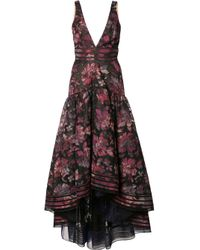 Notte by Marchesa | Multicolor Floral Print Cascading Dress | Lyst