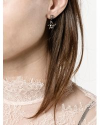 Valentino - Metallic Garavani Orchid Earrings - Lyst