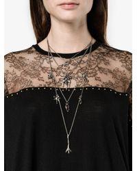 Valentino - Metallic Garavani Tiered Chain Multi-charm Necklace - Lyst