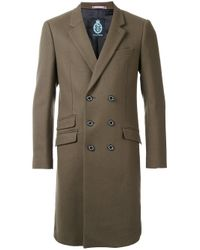 Guild Prime | Green Double-breasted Mid Coat for Men | Lyst