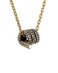Marc Jacobs - Metallic Twist Pendant Necklace - Lyst
