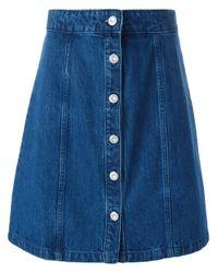 Être Cécile Blue Être Cécile A-line Denim Skirt
