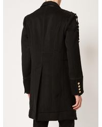 The Soloist Black Embroidered Panelled Coat