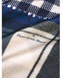 Pierre Louis Mascia Blue Patchwork Scarf