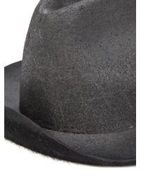 Reinhard Plank Black 'laila' Distressed Hat for men