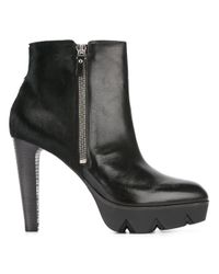 Vic Matié | Black Lateral Zip Ankle Boots | Lyst