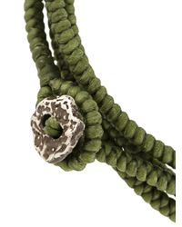 M. Cohen - Green Layer Knotted Wrap Bracelet - Lyst