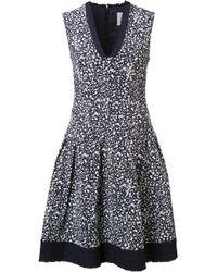 Carolina Herrera | Black Brush Splatter Print Dress | Lyst