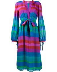 Etro | Multicolor Stripe Long Sleeve Dress | Lyst