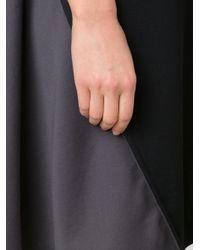 Issey Miyake Black Colour Block Jersey Dress