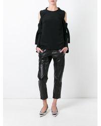 3.1 Phillip Lim Black - Cold Shoulder Blouse - Women - Silk - 6
