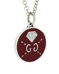 Gucci - Metallic Round Medallion Necklace - Lyst