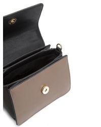 Christian Siriano Black Snakeskin Detail Crossbody Bag