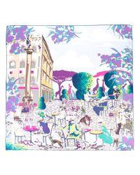 Ferragamo | Multicolor Palazzo Spini Feroni Print Scarf | Lyst