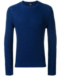 A.P.C. | Blue - Travel Knitted Jumper - Men - Cotton/linen/flax - L for Men | Lyst
