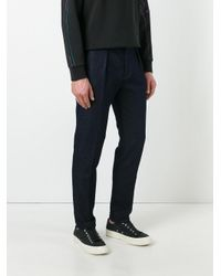 Paul Smith | Blue Pleat Detail Tapered Jeans for Men | Lyst