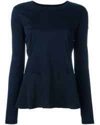 Dorothee Schumacher | Blue Ruffled Hem Sweatshirt | Lyst