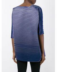 Pleats Please Issey Miyake - Blue Pleated Long Blouse - Lyst