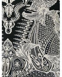 Roberto Cavalli - Black Floral Pattern Tank - Lyst