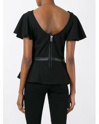 DIESEL Black Peplum Hem T-shirt