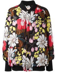 Marni | Black Floral Bomber Jacket | Lyst