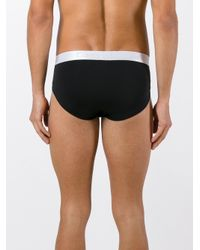 Calvin Klein Jeans Black Classic Logo Print Briefs for men