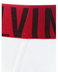 Calvin Klein Jeans White - Logo Print Briefs - Men - Cotton/spandex/elastane - L for men