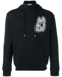 McQ Black Bunny Print Hoodie for men
