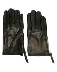 Want Les Essentiels De La Vie - Black Zip Detail Gloves - Lyst