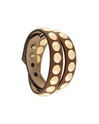 Burberry | Brown Studded Bracelet | Lyst
