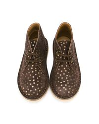 Pepe Jeans Brown Star Print Desert Boots