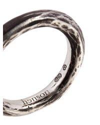 Henson - Metallic Carved Stacker Ring - Lyst