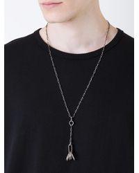 Henson Metallic Fine Rings Necklace