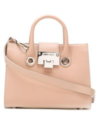 Jimmy Choo   Pink - Small Riley Tote - Women - Calf Leather - One Size   Lyst