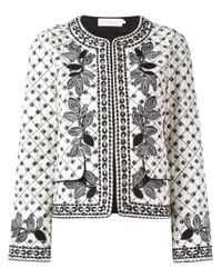 Tory Burch | White Fish Print Jacket | Lyst