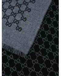 Gucci - Gray Gg Supreme Pattern Scarf for Men - Lyst