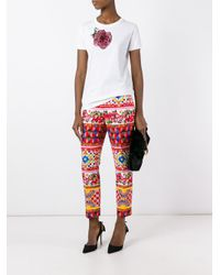 Dolce & Gabbana - Red Mambo Print Trousers - Lyst