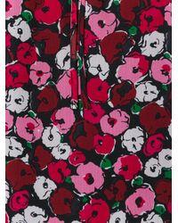 Saint Laurent - Red Anemone Print Gypsy Blouse - Lyst