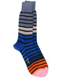 Paul by Paul Smith | Blue - Striped Socks - Men - Cotton/polyamide - One Size for Men | Lyst