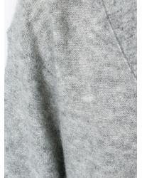 By Malene Birger Gray Loose-fit Sleeves V-neck Jumper
