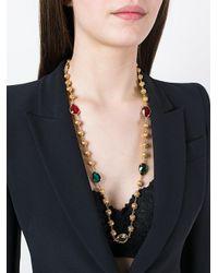 Dolce & Gabbana - Metallic Crystal Sphere Long Necklace - Lyst
