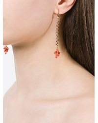 Isabel Marant | Multicolor Hanging Beaded Cluster Earrings | Lyst