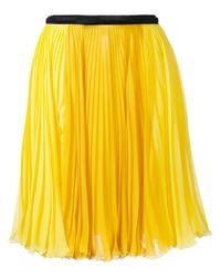 Giambattista Valli | Yellow - Pleated Skirt - Women - Silk - 42 | Lyst