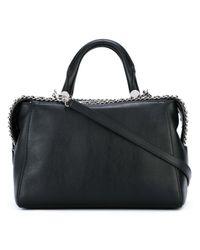 Max Mara | Black - Chain Trim Cross Body Bag - Women - Leather - One Size | Lyst